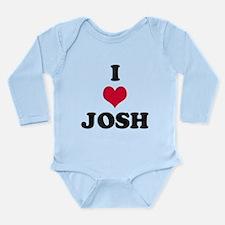 I Love Josh Long Sleeve Infant Bodysuit
