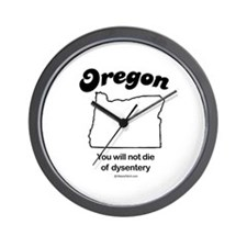 OREGON: You will not die of dysentery Wall Clock