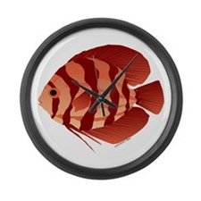 Discusfish (Discus) fish Large Wall Clock
