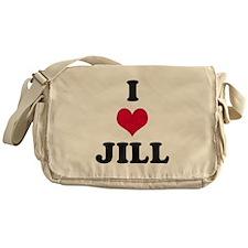 I Love Jill Messenger Bag