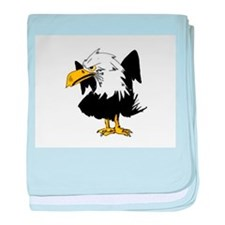 The Angry Eagle baby blanket