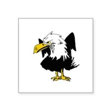 """The Angry Eagle Square Sticker 3"""" x 3"""""""