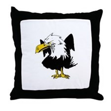 The Angry Eagle Throw Pillow
