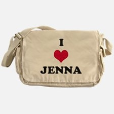 I Love Jenna Messenger Bag