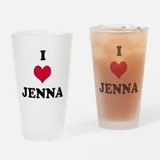 I Love Jenna Drinking Glass