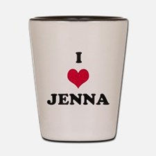 I Love Jenna Shot Glass