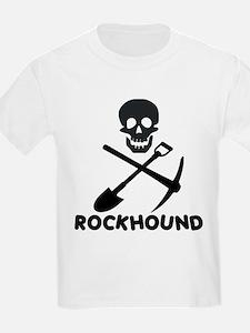 Rockhound Skull Cross Pick Shovel T-Shirt