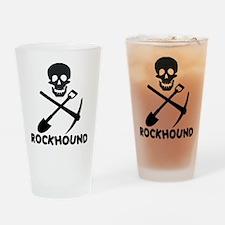 Rockhound Skull Cross Pick Shovel Drinking Glass