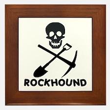 Rockhound Skull Cross Pick Shovel Framed Tile