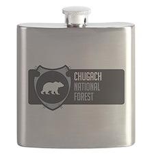 Chugach Arrowhead Badge Flask