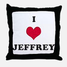 I Love Jeffrey Throw Pillow