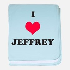 I Love Jeffrey baby blanket