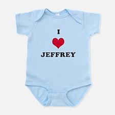I Love Jeffrey Infant Bodysuit