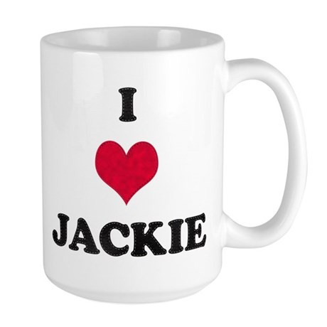 I Love Jackie Large Mug