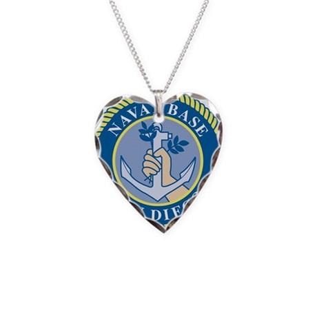 Naval Base San Diego Necklace Heart Charm