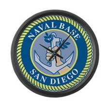 Naval Base San Diego Large Wall Clock