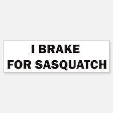 sasquatch black.png Bumper Bumper Sticker