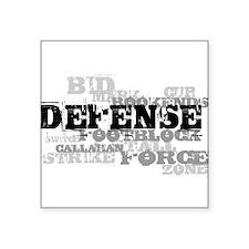 """Defense (lettering) Square Sticker 3"""" x 3"""""""