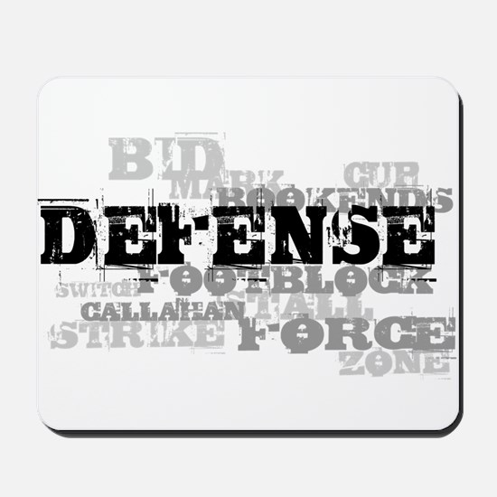 Defense (lettering) Mousepad