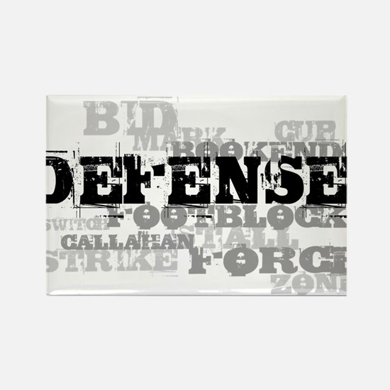 Defense (lettering) Rectangle Magnet