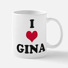 I Love Gina Mug