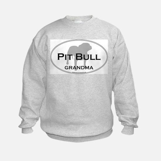 Cute Pit bull grandma Sweatshirt