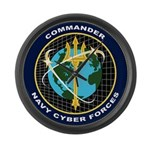 CYBERFOR emblem Large Wall Clock
