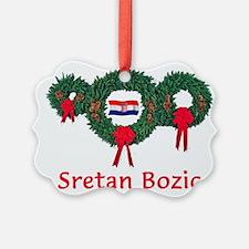Cute Croatia Ornament