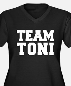 TEAM TONI Women's Plus Size V-Neck Dark T-Shirt