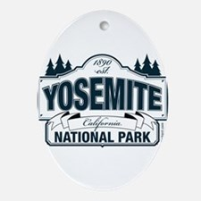 Yosemite Slate Blue Ornament (Oval)