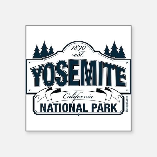 "Yosemite Slate Blue Square Sticker 3"" x 3"""
