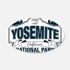 Yosemite Slate Blue Oval Car Magnet