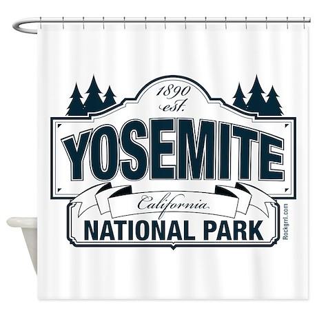 Yosemite Slate Blue Shower Curtain By Rockgrrl