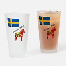 dala horse Drinking Glass