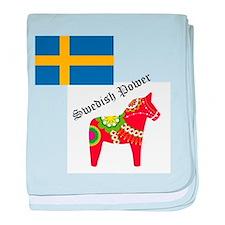dala horse baby blanket