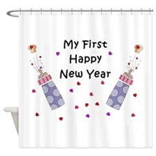 Baby's First New Year Shower Curtain