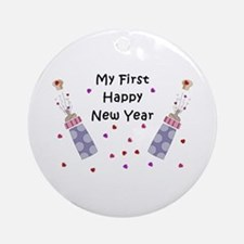 Baby's First New Year Ornament (Round)