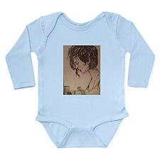 lonely girl Long Sleeve Infant Bodysuit