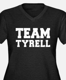 TEAM TYRELL Women's Plus Size V-Neck Dark T-Shirt