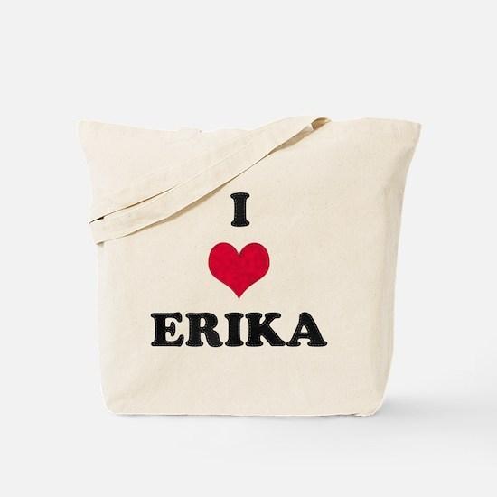 I Love Erika Tote Bag