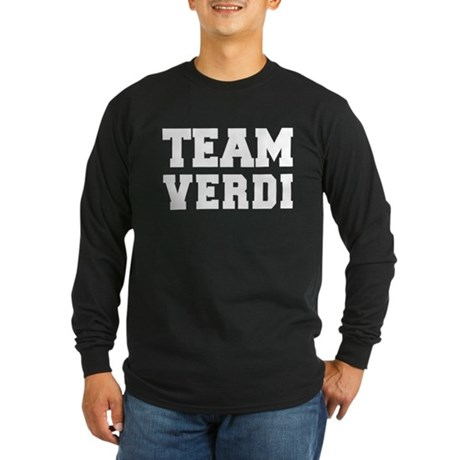 TEAM VERDI Long Sleeve Dark T-Shirt