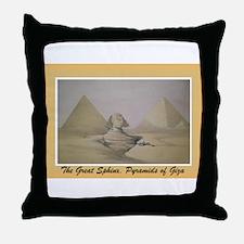 Unique Pyramids giza Throw Pillow