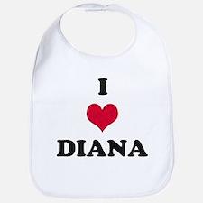 I Love Diana Bib