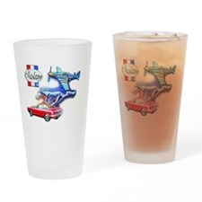 Cool Mustang Drinking Glass