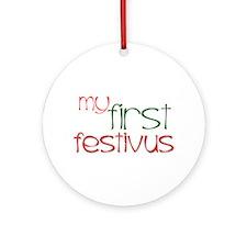 My 1st Festivus Ornament (Round)