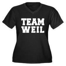 TEAM WEIL Women's Plus Size V-Neck Dark T-Shirt