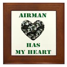my air man camo heart Framed Tile