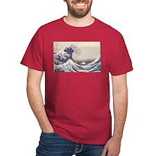 Big Blue Wave Cardinal T-Shirt