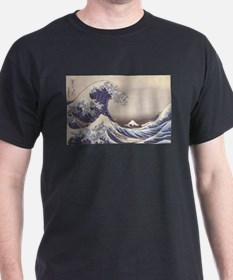 Big Blue Wave Black T-Shirt
