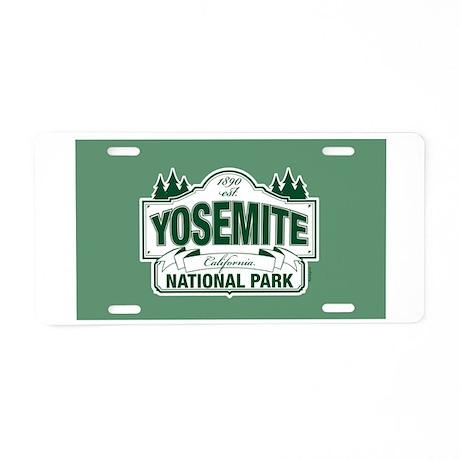 Yosemite Green Sign Aluminum License Plate